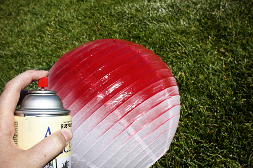 Diy paper lanterns from i never grew up - Paper lantern paint color ...