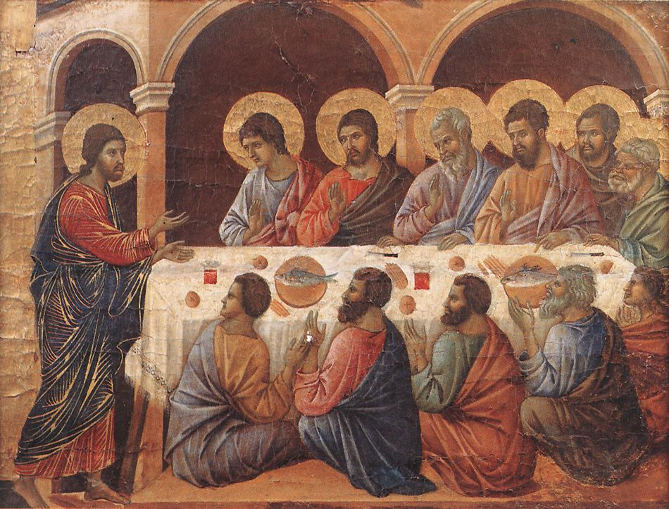 The Appearance to the Apostles by Duccio di Buoninsegna 1308-11